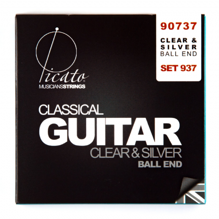 Picato Clear & Silver Normal Tension Nylon Ball End Classical Guitar Strings